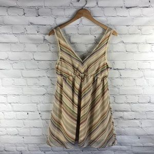 O'Neill Striped Sun Dress with Lace Detail sz M